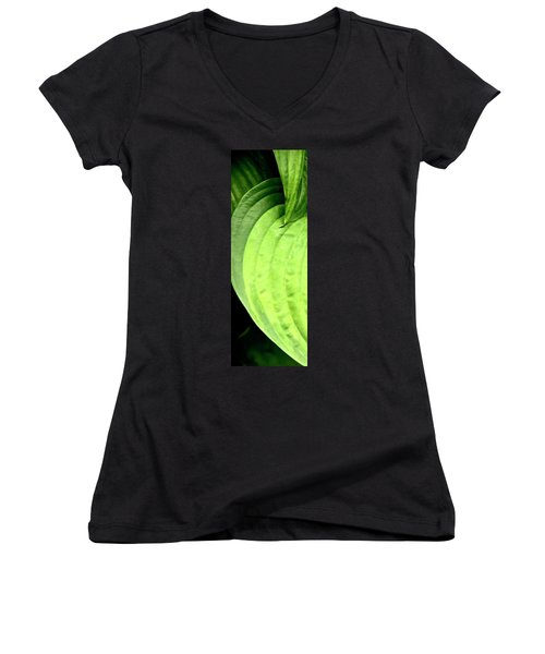 Shades Of Green Women's V-Neck (Athletic Fit)
