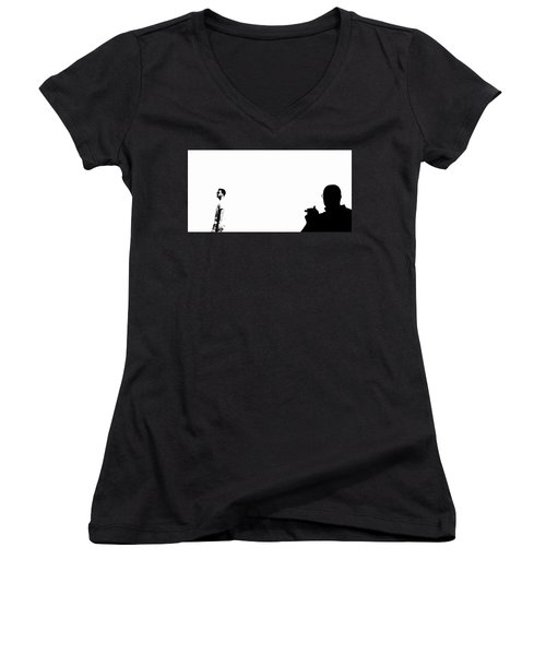 Shadow Man Women's V-Neck