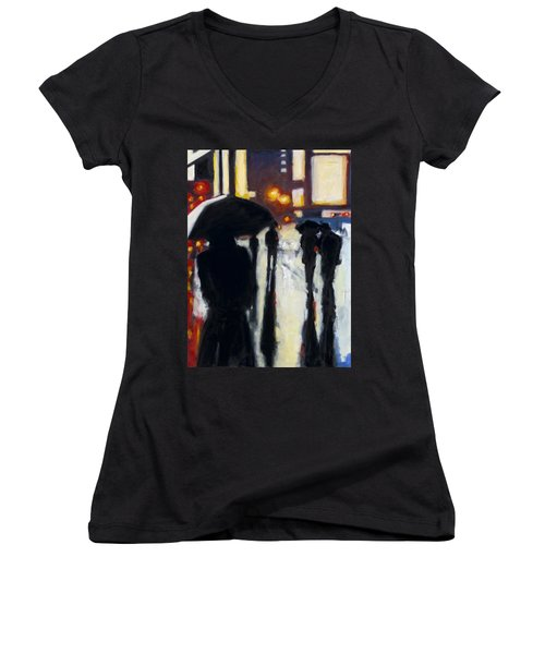 Shadows In The Rain Women's V-Neck