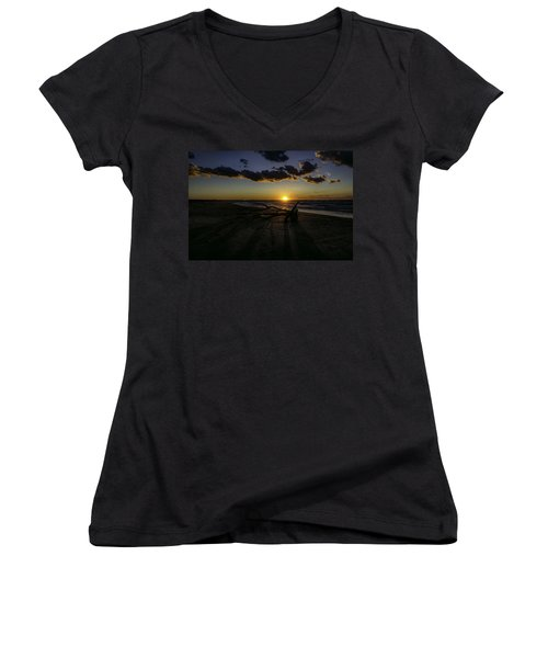 Shadows Women's V-Neck