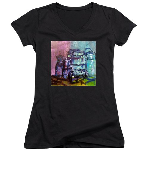 Shadows Through Glass Women's V-Neck (Athletic Fit)