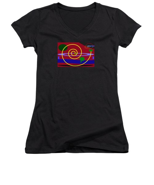 Shapes And Sizes Women's V-Neck T-Shirt (Junior Cut) by Tina M Wenger