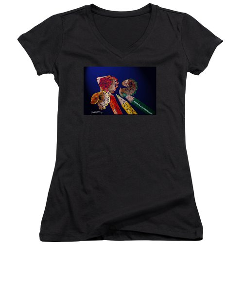 Sharp Pencils Women's V-Neck T-Shirt