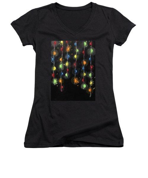 Shattered Lights Women's V-Neck T-Shirt