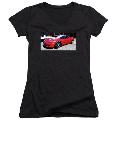 Shelby Corvette Women's V-Neck T-Shirt