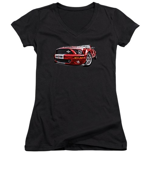 Shelby On Fire Women's V-Neck (Athletic Fit)