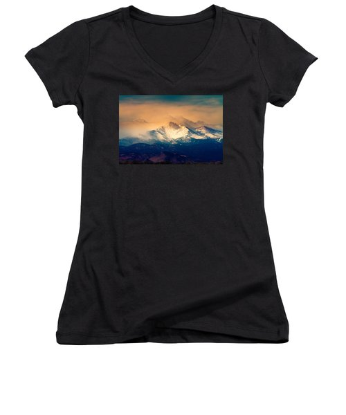 She'll Be Coming Around The Mountain Women's V-Neck
