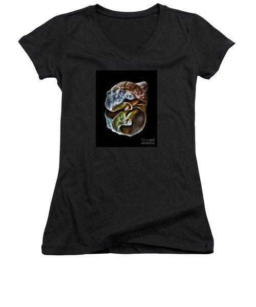 Shell On Mirror Women's V-Neck T-Shirt
