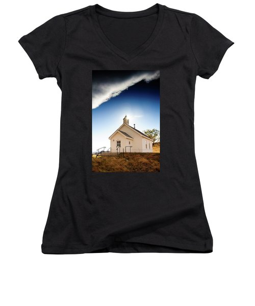 Shelter From The Storm Women's V-Neck T-Shirt