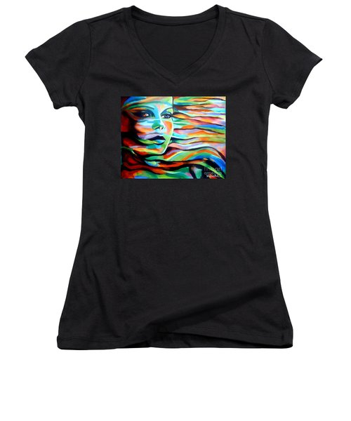 Sheltered By The Wind Women's V-Neck