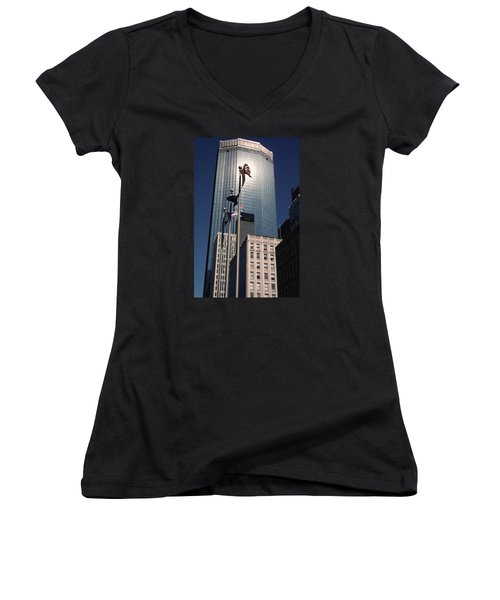 Shimmering Ids Women's V-Neck T-Shirt