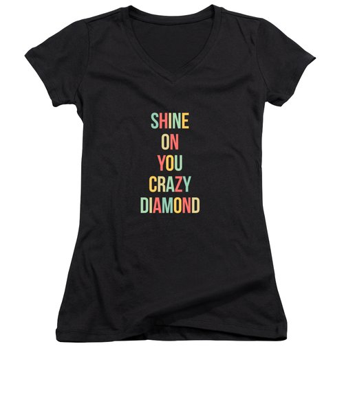 Shine On You Crazy Diamond Women's V-Neck (Athletic Fit)