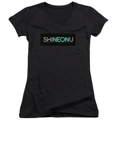 Shineonu - Neon Sign 1 Women's V-Neck (Athletic Fit)