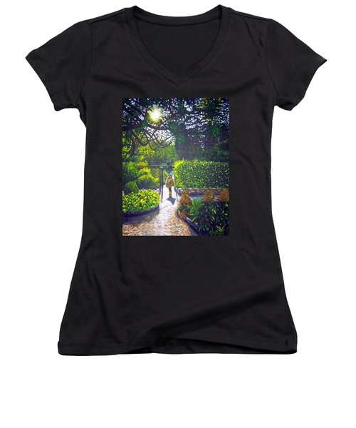 Shirley At Chalice Well Women's V-Neck