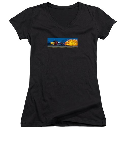 Shock Wave 2836 Women's V-Neck T-Shirt
