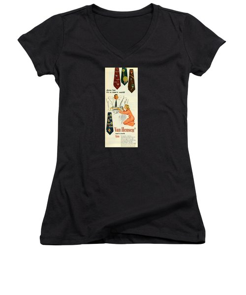 Show Her It's A Man's World Women's V-Neck