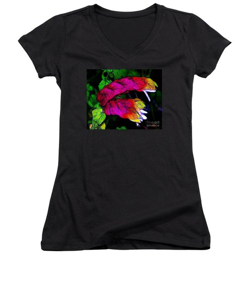Shrimp Plant Women's V-Neck T-Shirt