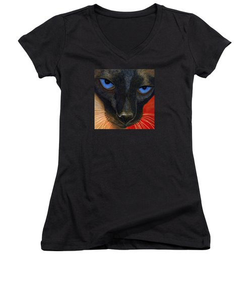 Siamese Women's V-Neck T-Shirt