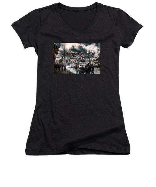 Sideshow Alley Women's V-Neck (Athletic Fit)