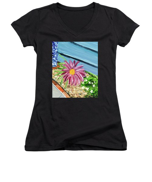Sidewalk View Women's V-Neck T-Shirt