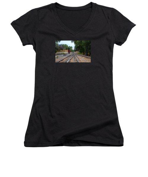 Sierra Railway Women's V-Neck (Athletic Fit)