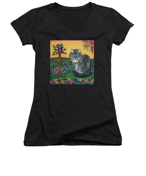 Sierra The Beloved Cat Women's V-Neck T-Shirt