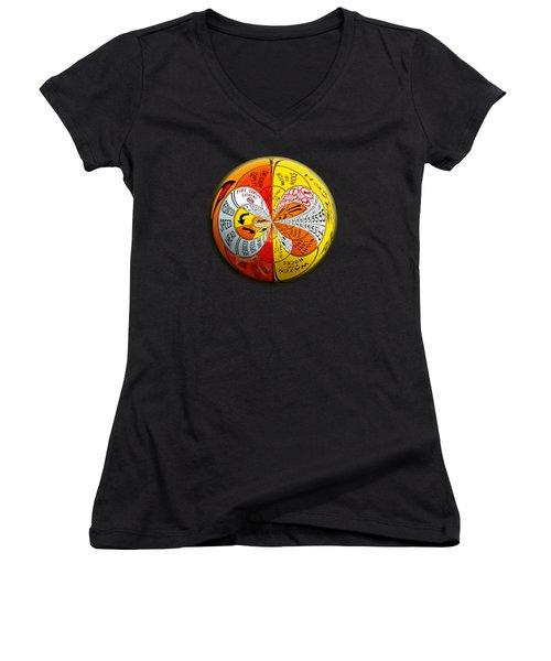 Signs Orbit Women's V-Neck T-Shirt