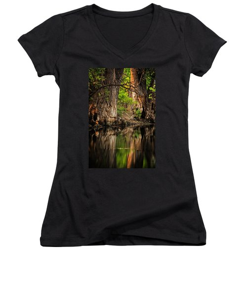 Women's V-Neck featuring the photograph Silent River by Scott Read