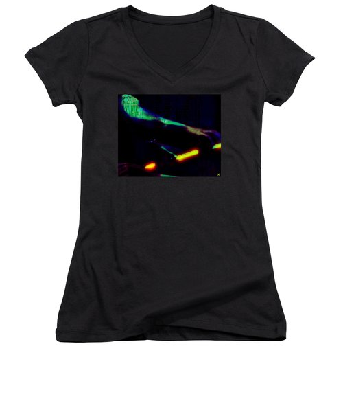 Silicon Man Women's V-Neck (Athletic Fit)