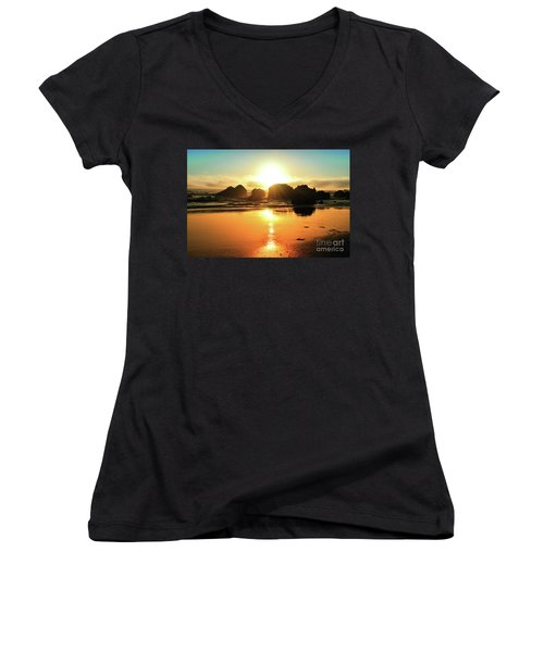 Simple Sunset Women's V-Neck (Athletic Fit)