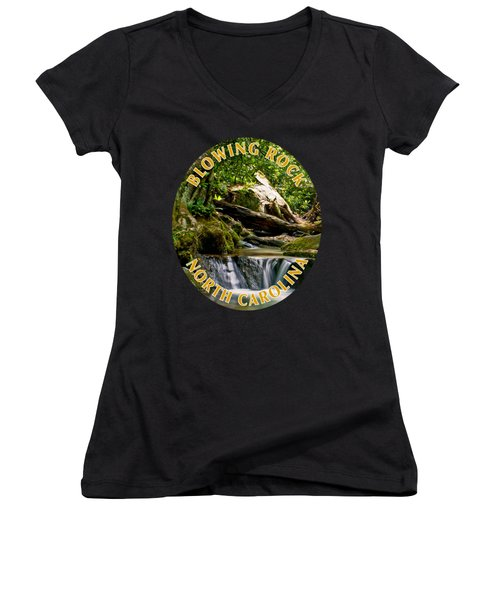 Sims Creek Waterfall T-shirt Women's V-Neck (Athletic Fit)