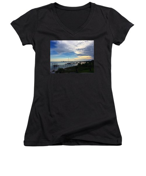 Sittin' On The Dock Of The Bay Women's V-Neck