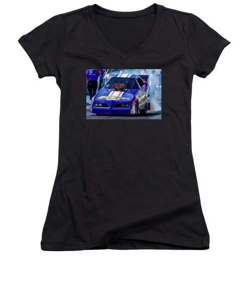 Sizemore Construction Pontiac Funny Car Women's V-Neck (Athletic Fit)