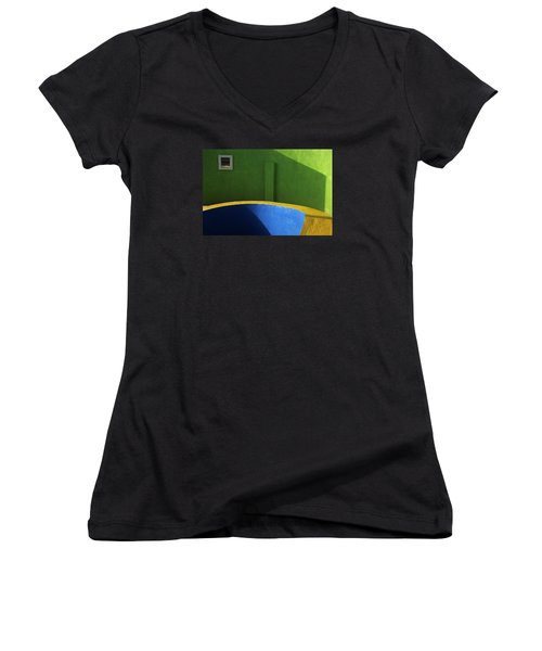 Skc 0305 The Fundamental Colors Women's V-Neck T-Shirt (Junior Cut) by Sunil Kapadia
