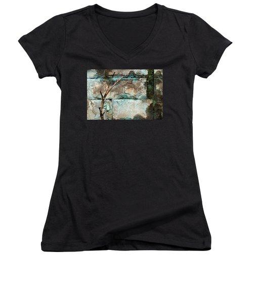 Skc 2510 Worn Out  Women's V-Neck T-Shirt