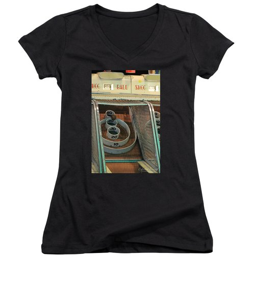 Skee Ball At Marty's Playland Women's V-Neck