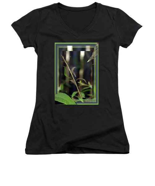 Women's V-Neck T-Shirt (Junior Cut) featuring the photograph Skeletons And Skin by Vicki Ferrari