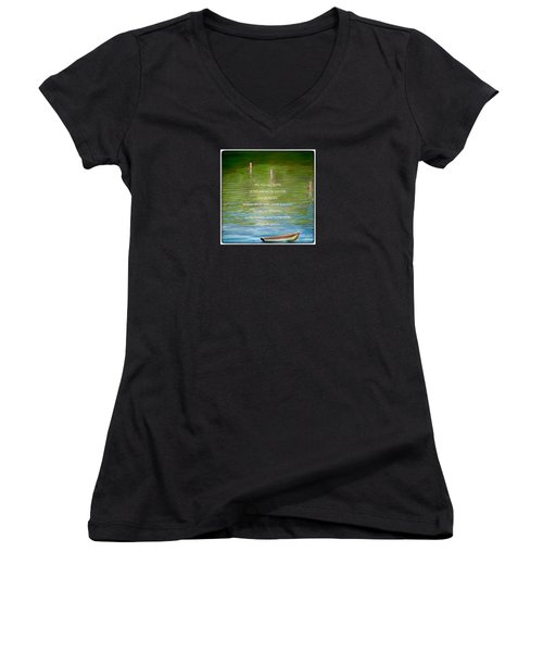 Skiff Boat Quote Women's V-Neck T-Shirt