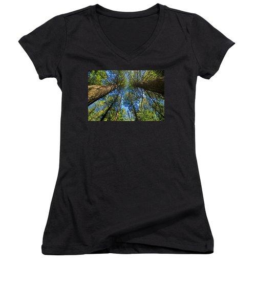 Women's V-Neck T-Shirt featuring the photograph Skyward by Gary Lengyel