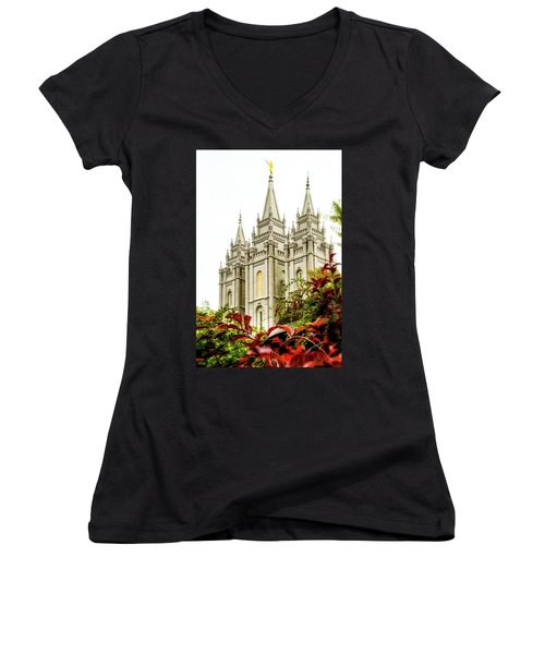Slc Temple Angle Women's V-Neck (Athletic Fit)
