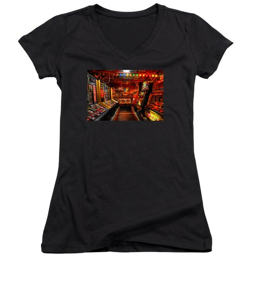 Slot Machines Women's V-Neck (Athletic Fit)