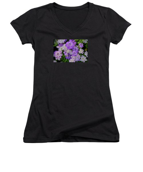 Small Pink Flowers 10 Women's V-Neck (Athletic Fit)
