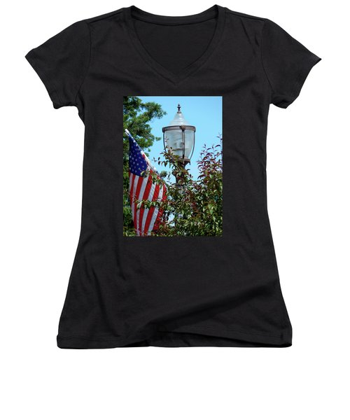 Small Town Anywhere Usa Women's V-Neck