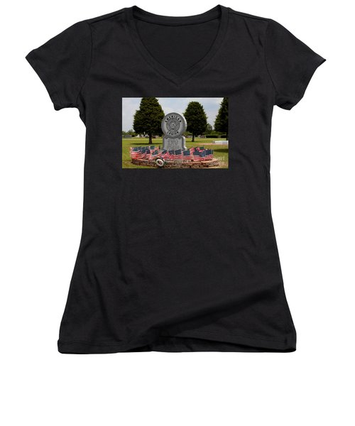 Small Town Tribute Women's V-Neck (Athletic Fit)