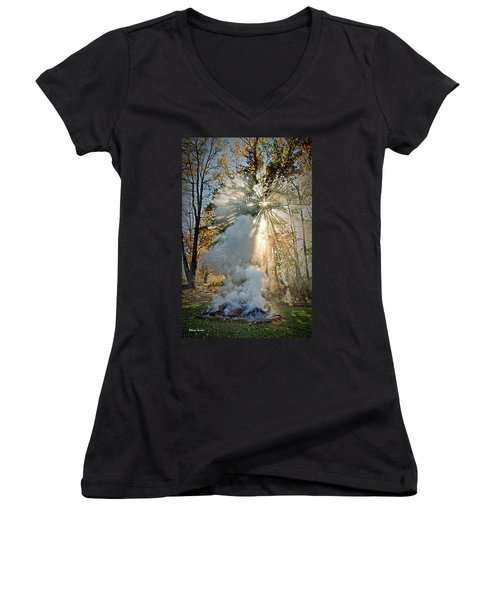 Smoke And Fire Women's V-Neck