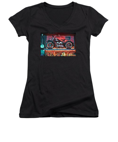 Snackbar Women's V-Neck T-Shirt (Junior Cut) by Graham Hawcroft pixsellpix