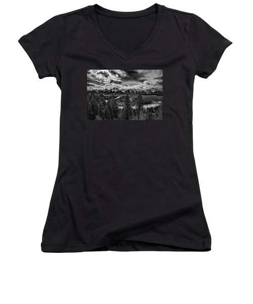 Snake River And Tetons Women's V-Neck
