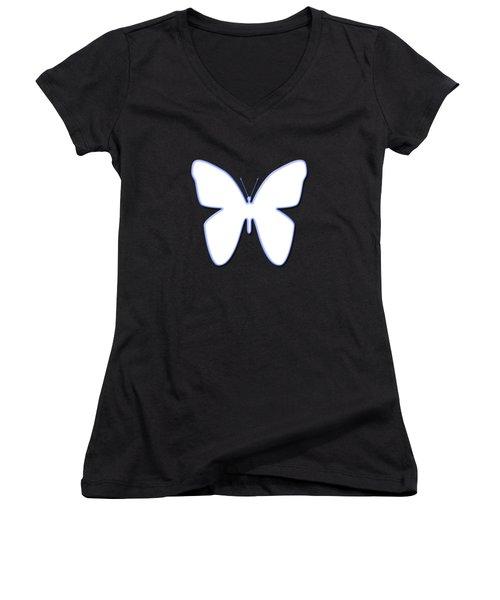Snow Butterfly Women's V-Neck T-Shirt