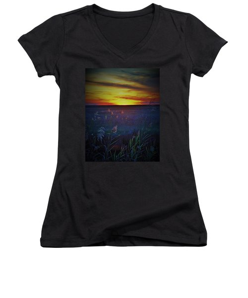 Women's V-Neck T-Shirt (Junior Cut) featuring the photograph So Many Colors by John Glass