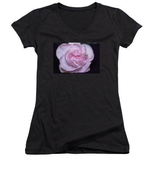 Soft Pink Rose Women's V-Neck